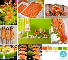 Tangerine and lime