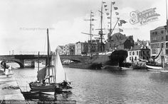 Photo of Weymouth, The Harbour 1904 from Francis Frith Weymouth Dorset, Dorset England, Old Photos, Sailing Ships, Portland, Seaside, Past, Places To Visit, Vintage