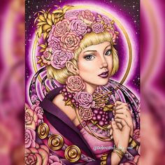 Orbit ~ I've coloured this gorgeous drawing by @nickfilbert as a colour along with some incredibly talented colourists @lilicence @colourfacets & @jokmatt swipe to see all our pages together & visit their profiles to see their breathtakingly beautiful colouring in full size and give them some ❤️ Serene Nicholas F Chandrawienata ✏️Caran D'Ache Luminance 11/6/17 #adultcoloring #coloringforadults #adultcoloringbook #creativelycoloring #coloringbook #coloring #adultcolouring #colouring #col...