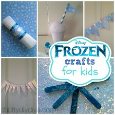 Are you planning a Frozen party or looking for easy crafts to do with kids? If so, check out these fun Disney Frozen Crafts For Kids On A Budget! Frozen Disney, Disney Frozen Crafts, Disney Diy, Fun Crafts For Kids, Craft Activities For Kids, Easy Crafts, Kid Costume, Frozen Themed Birthday Party, 3rd Birthday