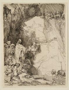 Mijn favoriete Rembrandt in Teylers Museum: Opwekking van Lazarus: kleine plaat (B72)