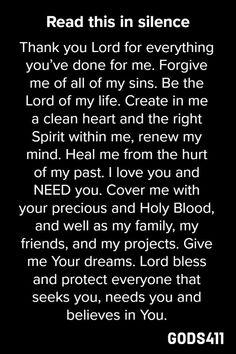 Read This In Silence, then react as Jesus calls you Prayer Scriptures, Bible Prayers, Faith Prayer, God Prayer, Prayer Quotes, Bible Verses Quotes, Faith Quotes, Night Prayer, Prayers For Forgiveness