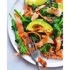 Black Quinoa Salad With Avocado, Smoked Salmon And Broccoli