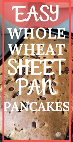 Need a quick healthy breakfast idea to feed a crowd? These whole wheat sheet pan pancakes are the answer. Cooking Sheet, Pan Cooking, Freezer Cooking, Freezer Meals, Healthy Breakfast Dishes, Breakfast Pancakes, Breakfast Recipes, Breakfast Ideas, Breakfast Time