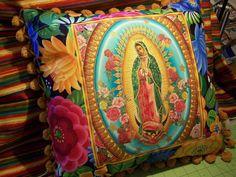 Virgin of Guadalupe Mexican Pillow Batea Bowl by RanchoRomantico