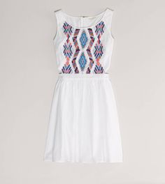 AE Embroidered Cutout Dress - by American Eagle Outfitters. Love this dress Sarah wore it