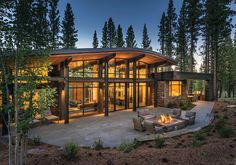 Beautiful architecture project by WYARCH - Mountain Houses Mountain Dream Homes, Modern Mountain Home, Mountain Style, Mountain Living, Future House, My House, Design Case, Design Design, Stone Houses
