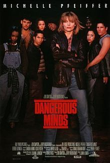 Dangerous Minds (1995) is an American drama film based on the autobiography My Posse Don't Do Homework by former U.S. Marine LouAnne Johnson, who took up a teaching position at Carlmont High School in Belmont, California, where most of her students were African-American and Hispanic teenagers from East Palo Alto, a then-unincorporated town at the opposite end of the school district.
