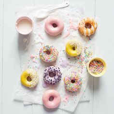 pastel donuts via @parigote