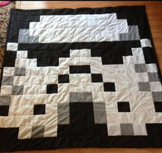Star Wars Stormtrooper Pixel Geek Quilt by FussButtons on Etsy