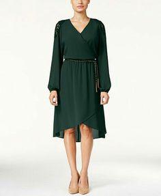 Dsrk green wrap dress Macy's