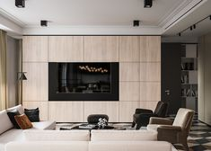 Modern Living Room Units Modern Classic On Behance Living Tv, Living Room Wall Units, Ceiling Design Living Room, Living Room Cabinets, Living Room Storage, Dining Room Walls, Living Room With Fireplace, Room Chairs, Small Living