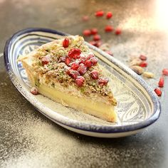 The Hedonista - Cardamom and Pistachio Custard Tart