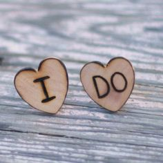 Wedding cuff links for the groom :)