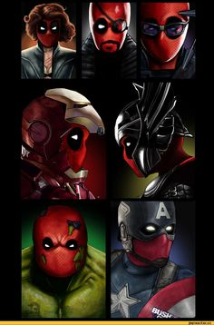 The Avengers replaced with DEADPOOL.