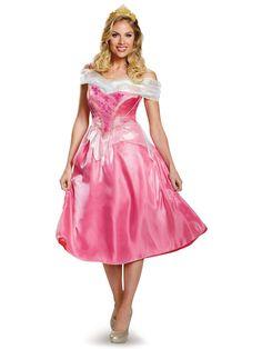 fcbe508e8a Disney Princess Womens Deluxe Aurora Costume