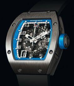 Richard Mille | Skeletonized Automatic | Titanium | Watch database watchtime.com #RichardMille #luxurywatch