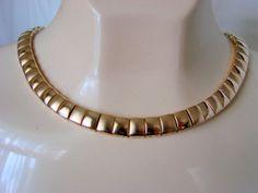 Vintage NAPIER Goldtone Link Necklace by JoysShop on Etsy, $14.95