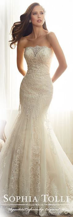 The Sophia Tolli Spring 2015 Wedding Dress Collection - Style No. Y11574 Alouette  www.sophiatolli.com #weddingdresses