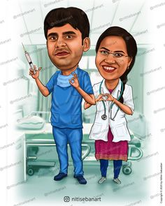 Pediatrician, doctorcaricature, Doctor cartoon, Couple Doctors , Anesthesian, caricature, Surgeon caricature, Doctor caricature, Physician caricature, Custom Caricatures illustration from photos, Save the date, Indian caricature, Caricature Wedding Gifts, Caricature Invite, guests sign in board, India Wedding, south indian wedding, nitisebanart Wedding Caricature, India Wedding, Caricatures, Doctors, Invite, Wedding Gifts, Sign, Cartoon, Photo And Video