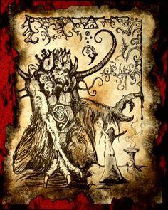 Señor demonio de arte original de monster MU Cthulhu Mythos Lovecraft Necronomicon