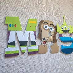 2nd Birthday, Birthday Parties, Birthday Gifts, Wood Letters, Letters And Numbers, Toy Story Bedroom, Toy Story Cookies, Nautical Nursery, Custom Wood