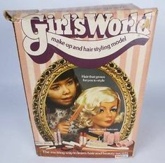 PALITOY vintage original GIRL'S WORLD styling head w/many accessories, boxed   eBay