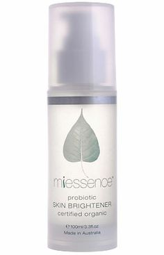 Miessence Certified Organic Probiotic Skin Brightener, restores and protects the skin's acid mantle to clarify the skin.