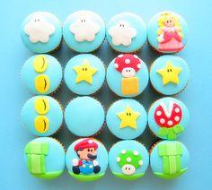 blue, cool, cupcakes, dessert, food