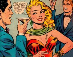 "Comic Girls Say...."" If you only knew how much I hate you"" #comic #vintage"