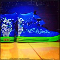 hiphop shoes with shoe art