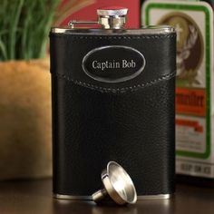 Personalized 8oz. Leather Flask