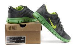 Mens Nike Free Powerlines Netz Tief Grau Grun