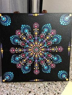 Hand painted dot mandala image 1 You are in the right place about Mandala Painting buddha Here we of Dot Art Painting, Mandala Painting, Painting Patterns, Painting Abstract, Acrylic Paintings, Mandala Pattern, Mandala Design, Mandela Art, Hand Painted Canvas