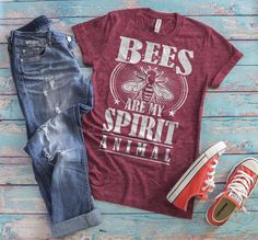 Bee shirt for beekeepers and bee lovers! Save the bees! If you love organic honey, and care about our environment, this funny and stylish custom designed tee is the perfect way to show your support for the queen of the hive and her buzzing honeycomb community. Whether it's a backyard hobby, passion, interest, or a full time profession, this awesome lighthearted shirt shows everyone that you think bees are freaking awesome, and spreads awareness at the same time. Tee T Shirt, Pug Shirt, Tiger Shirt, Panda Shirt, Llama Shirt, Lion Shirt, Wholesale T Shirts, Shark Shirt, Unicorn Shirt