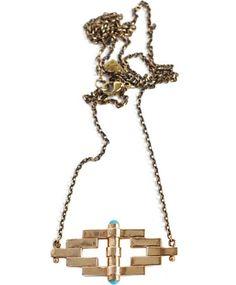 Bronze Reflection Pendant by Pamela Love