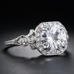 2.17 Carat 'D' Color Diamond Edwardian Style Engagement Ring - 10-1-4771 - Lang Antiques. Only $50k!! =)