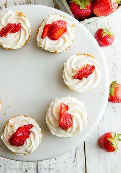 strawberry cheese cake bites.