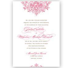 Victorian Elegance Wedding Invitation
