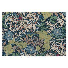 Buy Morris & Co Seaweed Indigo Rug Online at johnlewis.com