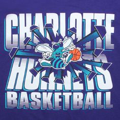 Charlotte Hornets Gear | Mitchell And Ness Charlotte Hornets Blank Tee (purple) Apparel X2A ...