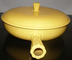 Vintage Fiesta Yellow Covered French Casserole Dish-Pristine! by NeedTOLiquidate on Etsy