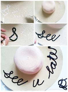 DIY Summer Beach Hat Tutorial