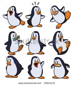 Cute cartoon penguins all in separate layers for easy editing Poster Poster. Penguin Cartoon Drawing, Pinguin Drawing, Penguin Sketch, Penguin Art, Cute Cartoon Drawings, Cartoon Sketches, Pinguin Illustration, Cute Illustration, Easy Animal Drawings