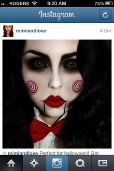 halloween, makeup, spooky, ideas, blogger, instagram, mimiandlove, red, scary