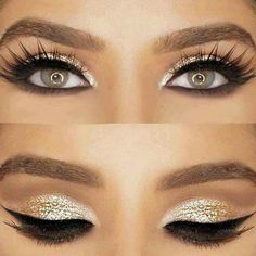 Silver and gold makeup