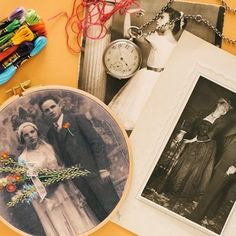 A Stitch in Time: Embroidered Family Photo
