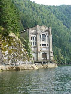 Buntzen Lake power station 1903-1972 Old Buildings, Abandoned Buildings, Abandoned Places, Interior And Exterior, Interior Design, Urban, Vacation, Explore, Architecture