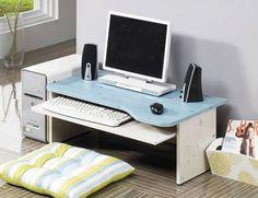 Computer Floor Table Laptop Desk Japanese-Style Slide Keyboard Organizer