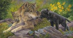 """""""Unconditional Love"""", oil on canvas, 16"""" x 30"""", by Lucie Bilodeau."""